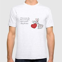 Snuggle Bunnies Mens Fitted Tee Ash Grey SMALL