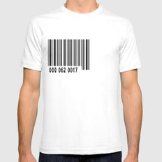 Barcode 1 SMALL White Mens Fitted Tee
