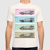Back To The Future - Del… Mens Fitted Tee Natural MEDIUM