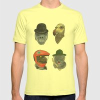 A Tribute To Stanley Kubrick Mens Fitted Tee Lemon SMALL