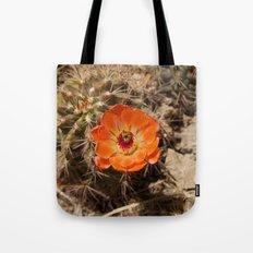 Cactus Flower (Landscape) Tote Bag