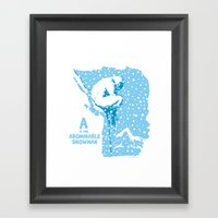 A Is For Abominable Snow… Framed Art Print