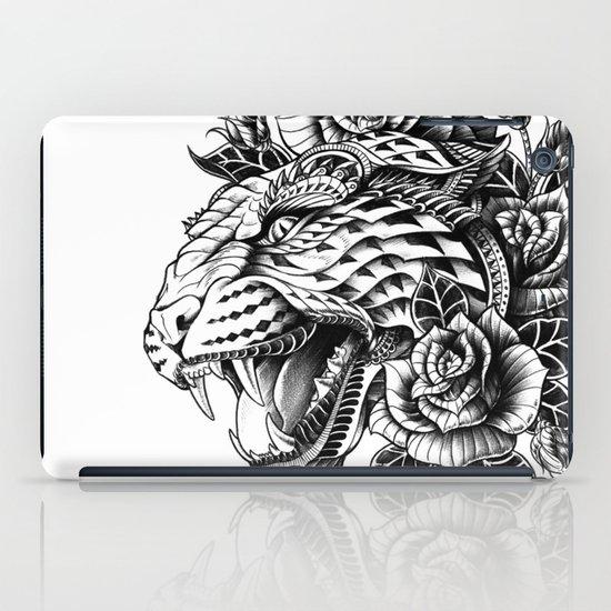 Ornate Leopard Black & White Variant iPad Case