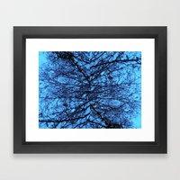 Blue Veins Framed Art Print