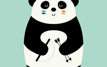 Art Print - Be Brave Panda - Andy Westface