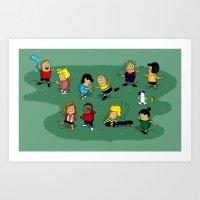 Juts Peanuts!! Art Print