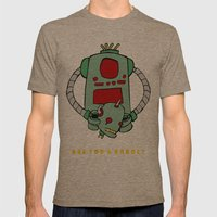 Are We Robot? Mens Fitted Tee Tri-Coffee SMALL