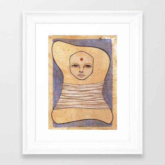 Secrets of Osiris I Framed Art Print