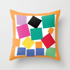Square Elephant Throw Pillow