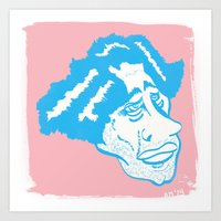 Scruff in Blue Art Print