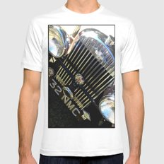 Classic Morgan Mens Fitted Tee White SMALL