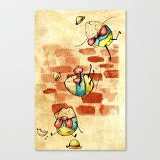 Vintage/ Rustic Style Humpty Dumpty Print Canvas Print