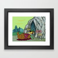 YOGI HAD A BOO BOO. Framed Art Print