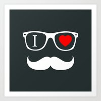 hipster Art Prints featuring Hipster by Hipster