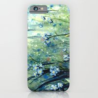 Forget me not flowers iPhone 6 Slim Case