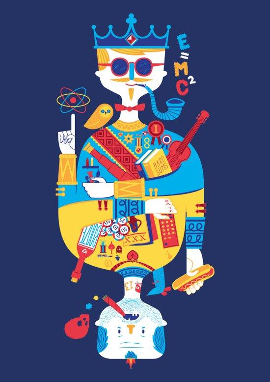 Jack of Smarts (Knave of Slobs) Art Print