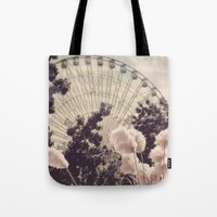 Cotton Candy Wheel Tote Bag