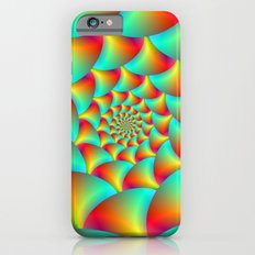 Spiral Spheres in Red Yellow and Turquoise  Slim Case iPhone 6s