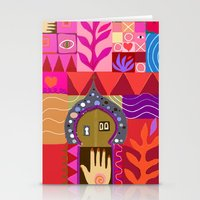 Stationery Card featuring Happy Fish by Pink Pagoda Studio / Barbara Perrine Chu