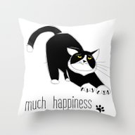 Much Happiness! Throw Pillow