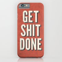 iPhone & iPod Case featuring Get Shit Done by Bill Pyle