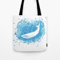 Tote Bag featuring Blue Whale by Wild Notions
