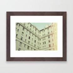 Vintage San Francisco Architecture (Film) Framed Art Print