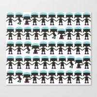 Roller Derby Paper Chain… Canvas Print
