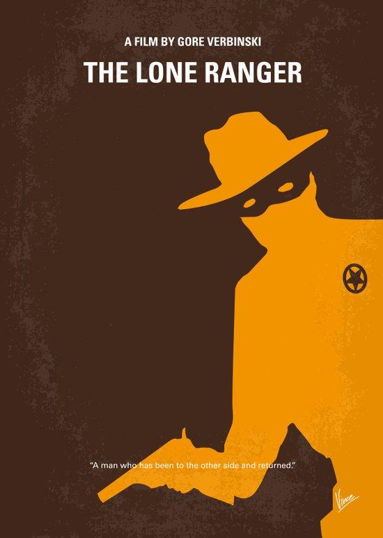 No202 My The Lone Ranger minimal movie poster Art Print