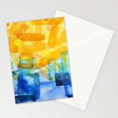 Sunburst Watercolor Stationery Cards