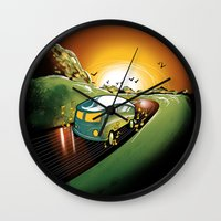 Killer Road Trip  Wall Clock