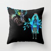 Alice Wonders Throw Pillow