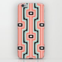 Coral Stripe Mod iPhone & iPod Skin