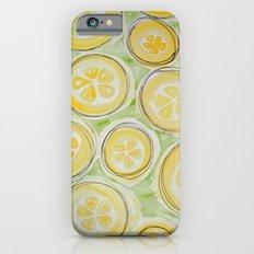 Lemons (Green/Lined) Slim Case iPhone 6s