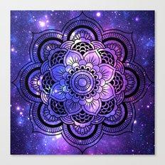 Mandala : Purple Blue Galaxy Canvas Print