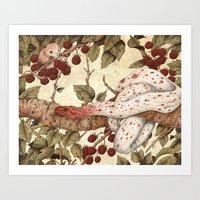 The Mouse And Snake Art Print