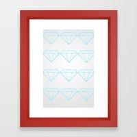 Diamonds Are A Girls Best Friend Framed Art Print