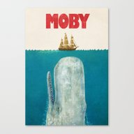 Canvas Print featuring Moby  by Terry Fan