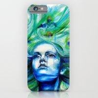 iPhone & iPod Case featuring Metamorphosis-peacock by KlarEm