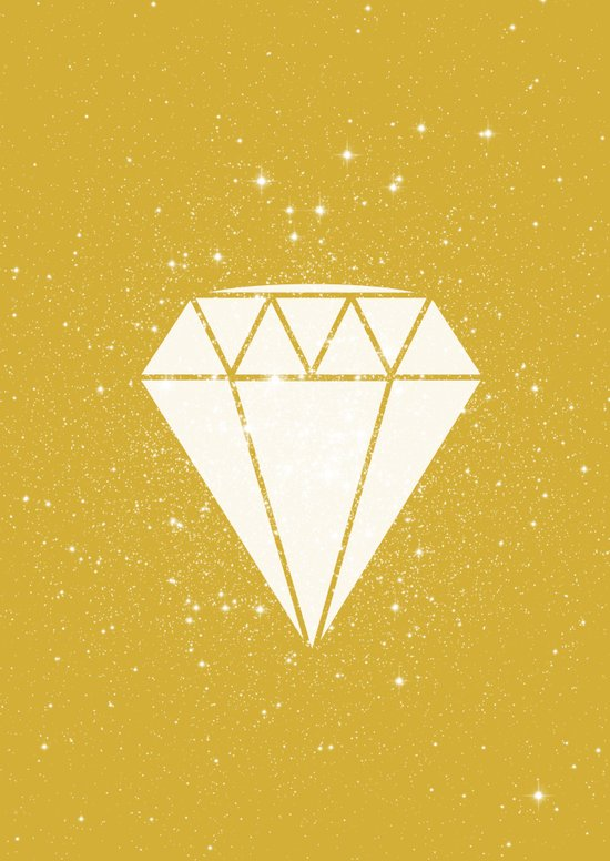 Space Diamond (gold) Art Print