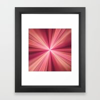 Pink Rays Abstract Fract… Framed Art Print