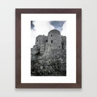 Faded Memories: Harlech Castle Framed Art Print