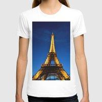 eiffel T-shirts featuring Eiffel by Heather Hartley