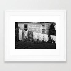 Amish Laundry Framed Art Print