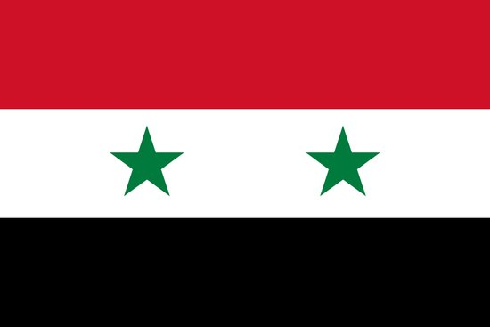 The Syrian national flag - (may PEACE prevail) Art Print