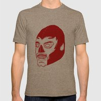 Red Luchador Mens Fitted Tee Tri-Coffee SMALL