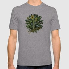 Wildflower  Mens Fitted Tee Athletic Grey SMALL