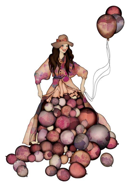 Le Ballon // Birthday Art Print