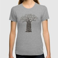 Zebra Tree Womens Fitted Tee Athletic Grey SMALL