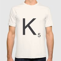 Scrabble K Mens Fitted Tee Natural SMALL